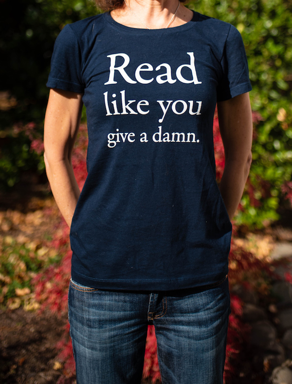 "ed3ed1899 Read Like You Give a Damn"" women s t-shirt – EcoLit Books"